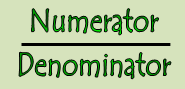 The numerator and denominator are the parts of a fraction.